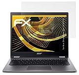 atFolix Panzerfolie kompatibel mit Acer Chromebook Spin 13 CP713 Schutzfolie, entspiegelnde & stoßdämpfende FX Folie (2X)