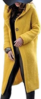 Women Long Sleeve Solid Color Long Cardigan Open Front Knit Sweater Outwear