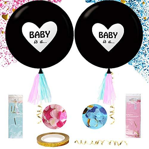 KRIS Geschlecht offenbaren,Ballon Boy or Girl ,Luftballons Mädchen Oder Junge, Baby Shower Party Dekorationen, Geschlecht Baby ,überraschung Party (A)