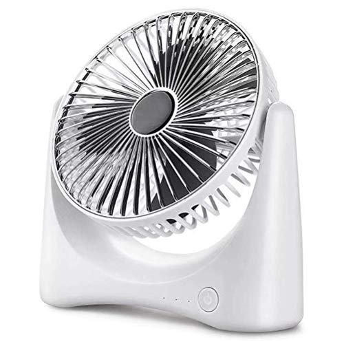 LJJ Desktop Air Circulation Ventilator, draagbare USB Mini elektrische ventilatoren met 3 ventilator Blade en Turbo Power Motor Geschikt voor thuiskantoor en studentenslaapzaal