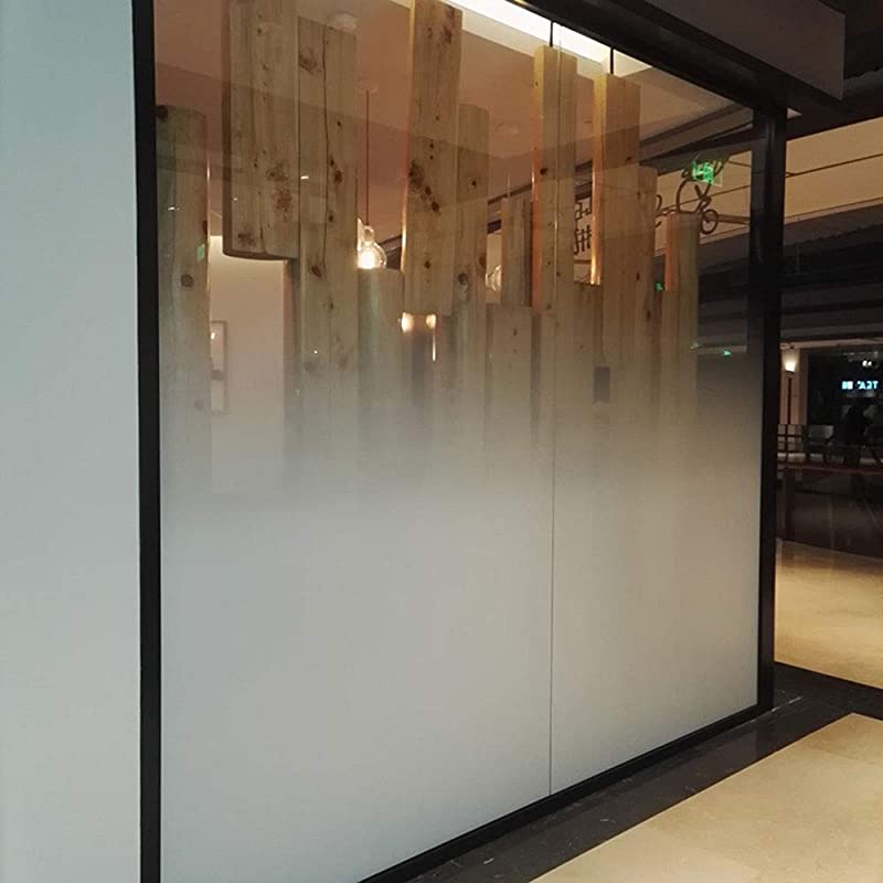 HOHOFILM 60 X12 Semi Privacy White Dot One Way Gradient Window Film Door Glass Decoration Foil Stickers With Glue Tint