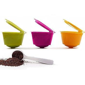 YISER 3 Pack Cápsulas Filtros de Café Recargable Colores Reutilizable para Cafetera Dolce Gusto: Amazon.es: Hogar