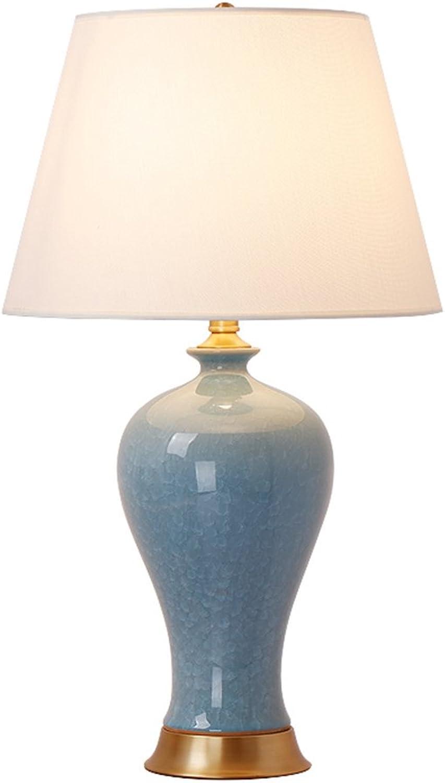 Keramische Tischlampe amerikanischen Landhausstil Landhausstil Landhausstil Schlafzimmer Wohnzimmer Taste Schalter blau Tischlampe B07M6KB9GV     | Spezielle Funktion  d3ee5b