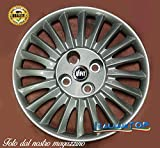 Desconocido Genérico - Tapacubos para Fiat Grande Punto Quattro (4) - Código 1215 - Diámetro 15 cm - Logo Azul