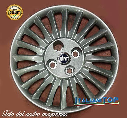 Generisch FIAT Grande Punto Quattro (4) Radzierblenden Borchia Code 1215 Coppa Raddurchmesser 15