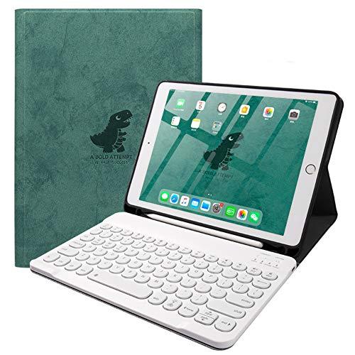 Strnry iPad Keyboard Case 9.7, Teclado Bluetooth Inalámbrico Desmontable Magnético Retroiluminado con Portalápices para iPad 9.7 Pulgadas 2018 / iPad 9.7 Pulgadas 2017 - Tecla Redonda,A