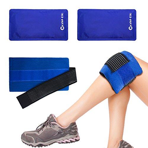 Paquete de gel reutilizable - terapia de frías y calor para el cuello, las rodillas, los hombros, los brazos - la cabeza. Alivia eficazmente el dolor y las lesiones de tobillo - 11