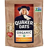 Quaker Old Fashioned Rolled Oats, USDA Organic, Non GMO Project Verified, 24oz Resealable Bags (Pack...