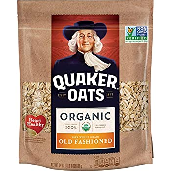 Quaker Old Fashioned Rolled Oats USDA Organic Non GMO Project Verified 24oz Resealable Bags  Pack of 4