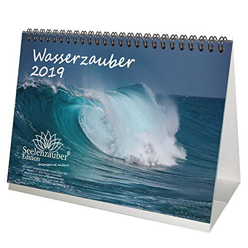 Watermagie · DIN A5 · Premium tafelkalender/kalender 2019 · water · waterval · ijs · gletscher · strand · vakantie · zee · Edition Seelmagie