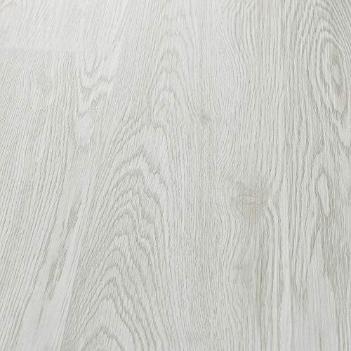 neu.holz Vinyl Laminat ca. 4 m² 'White Oak' Bodenbelag Selbstklebend rutschfest 28 Dekor-Dielen für Fußbodenheizung