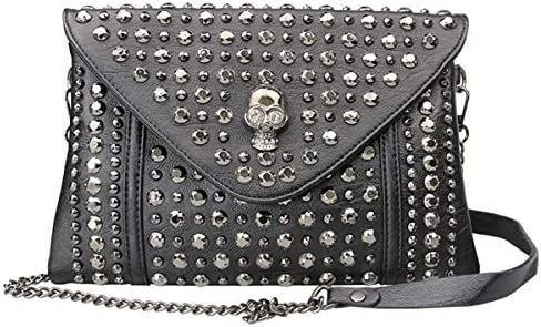 FiveloveTwo Women Rivet Chain Handbag Purse Clutch Small PU Leather Satchel Shoulder Tote Top product image
