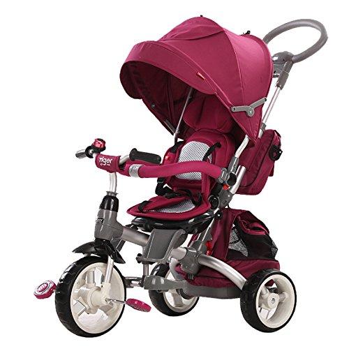 Mondial Toys Triciclo Passeggino con Sedile Girevole 6 in 1 Modi New Purple