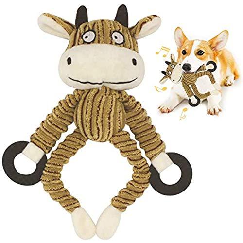 HGFJG Toy Play Funny Pet Puppy Chew Squeaker Squeaky Durable Dog Peluche De Juguete, Reducción del Aburrimiento Juguete para Perros para Perros Medianos/Grandes