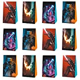 12Pack Monster Party Favors Gift Bags for Video Fans Monster Birthday Party Decorations