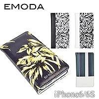 セール価格 iPhone6 iPhone6s EMODA エモダ 「手帳型ケース」 ミラー付き ブランド (リーフ)