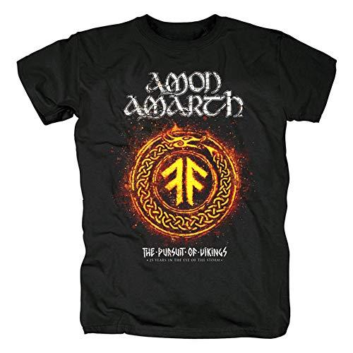 Herren T-Shirt Amon Amarth, kurzärmlig, T-Shirt für Damen Gr. M, Schwarz