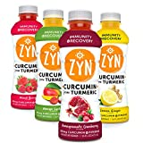 ZYN Turmeric Curcumin Immunity Support & Recovery - Inflammation Relief 4 Pack (Variety) Drinks
