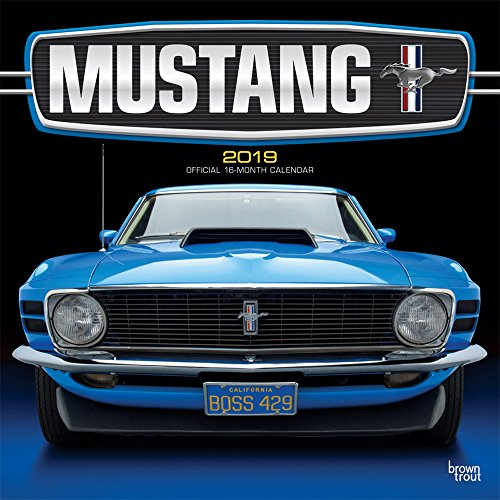 Mustang 2019 12 x 12 Inch Monthly Square Wall Calendar with Foil Stamped Cover, Ford Motor Muscle Car (English, French and Spanish Edition)