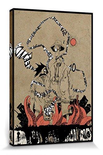 1art1 Arte Urbano - Miedo Y Asco, Marcus Merget Cuadro, Lienzo Montado sobre Bastidor (120 x 80cm)