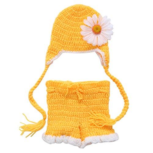 VIcoo babymuts 1, geboren baby meisjes jongens gehaakte gebreide muts shorts kostuum fotografie prop outfits