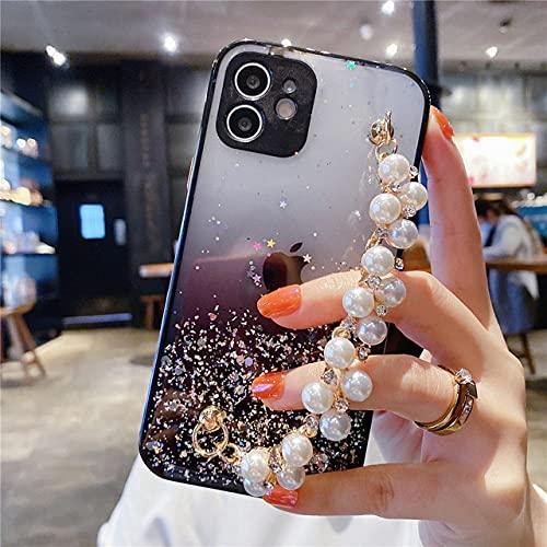 Funda de teléfono de silicona brillante con pulsera colorida, adecuada para Samsung S21 S20 FE Note 20 A12 A52 A72 A51 A71 A50 A21S A11 A31 A32 funda de protección suave contra caídas, estilo 5,