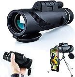 dh-16 Monocular HD para Smartphone 40X60, Telescopio para Smartphone Monoculares para Adultos Impermeable con Teléfono