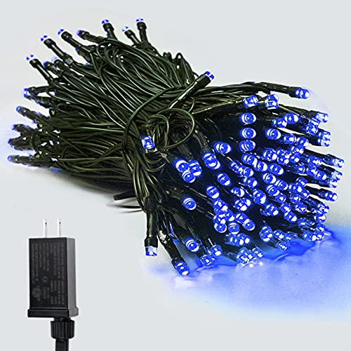 Blue Super-Long 95FT 240 LED Extendable Plug in String Lights for Halloween Decorations Bedroom Christmas Party Decor Room Garden Patio Tree (Blue) is $17.99 (22% off)