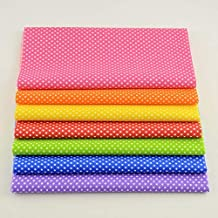 LLDP Mini White Dots 100% Cotton lting Fabric Dolls Textile Patchwork Sewing Curtain (Color : 100x150)