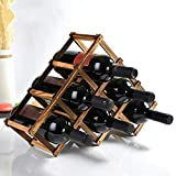 Estante Para Botellas De Vino,Bonito Botellero De Metal,Mueble Vinoteca Manejable Para Botellas De Vino U Otras Bebidas (6 Botellas)