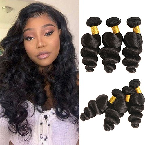 Huarisi Long Human Hair Loose Wave Bundles Brazilian Hair 24 26 28 Inches 3 Bundles 8a Unprocessed Wavy Hair Weaves Extensions Natural Curls Prime