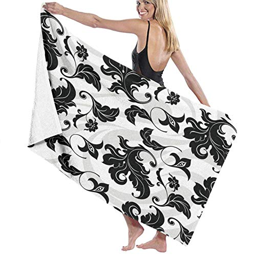N \ A Large Soft Lightweight Microfiber Bath Towel Blanket,Fish Rustic Boards Fishing Print,Bath Sheet Beach Towel for Family Hotel Travel Swimming Sports Home Decor,52' x 32'