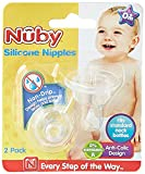 Nûby 921 auslaufsicherer Flaschensauger / Ernährungssauger aus Silikon für Standardflaschen, ab dem 1.Tag / 2er Pack
