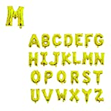 Party Xclusive Gold 42inch Giant Letter Balloon Birthday Wedding Alphabet Mylar Foil Big Large Helium Party Decorations (Gold Letter - M)