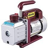 Bestauto 4.5CFM 1-3HP Vacuum Pump 110V 2 Meter Valve 1 Stage 5PA Ultimate Air Conditioning Refrigerant Vacuum Pump for HVAC Auto AC Refrigerant Rechar