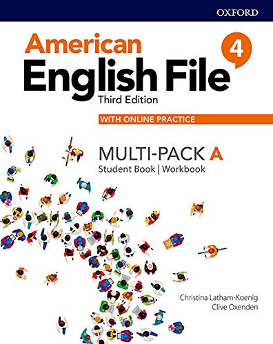 American English File: Level 4: Student Book/Workbook Multi-Pack A with Online Practice