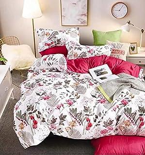 LOLAI Kingsize 220X240 Bedsheet 6pcs One Set High Cotton Quality Bedding Set Duvet Cover (Geometric Black)