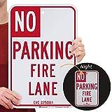 SmartSign'California No - Parking Fire Lane Sign | 12' x 18' 3M Engineer Grade Reflective Aluminum