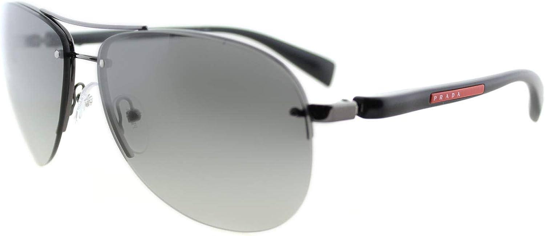 Prada Sport PS56MS 5AV3M1 Gunmetal PS56MS Pilot Sunglasses Lens Category 2 Size