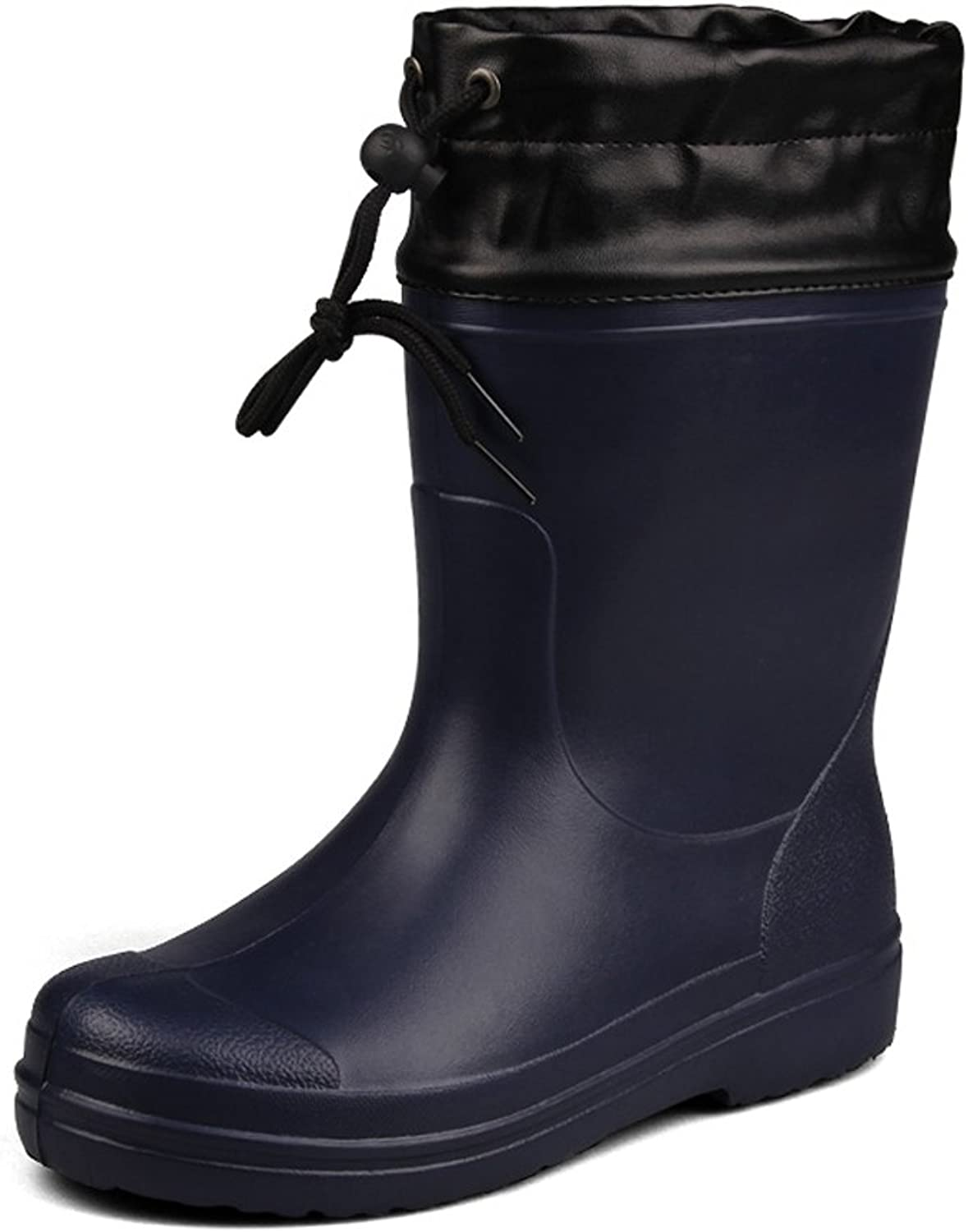 Spring And Summer New Men's Oil-Proof Waterproof Non-Slip Rain Boots In The Tube Wear-Resistant Outdoor Fishing Waterproof Rain Boots