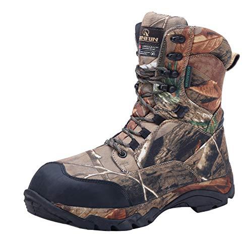 R RUNFUN Men's camo Waterproof Lightweight Hunting Boots