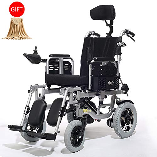 Affordable Wheelchairs Foldable Wheel Chairs,Disabled Electric with Powerful Dual Motor,Automatic Br...