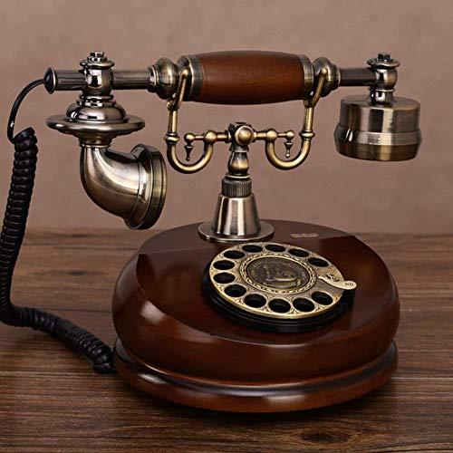 HYY-YY Estilo Americano, Madera Sólida, Antigüedad [Retro], Teléfono, Línea fija, Cable-A