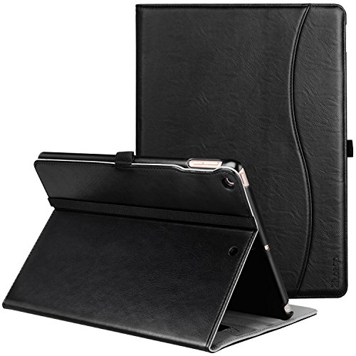 Ztotop Case for New IPad 9.7 Inch 2018/2017,Premium PU Leather Business Slim Folding Stand Folio Cover with Auto Wake/Sleep,Pencil Holder and Multiple Viewing Angles,Black