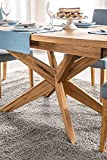 Amazon Brand - Alkove Olney Solid Wood Extendable Table, 160/210 x 77 x 95 cm, Oak with Natural Veneer