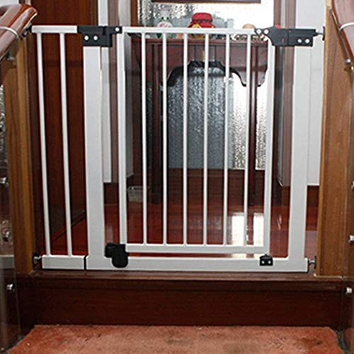 DFKDGL Metal Adjustable Baby Pet Safety Gate Stair Gate Auto-Close with Pressure Mount Expandable Stands 80cm tall The width can be selected from 74 to 249cm (Color : High80cm, Size : 116-123cm)