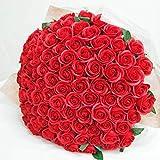 お好きな本数 ソープフラワー花束 レッド(k) 60本 ブーケ 赤いバラの花束 誕生日 還暦 60歳 記念日 敬老の日 お祝い シャボンフラワー 造花 結婚 バースデー 婚約