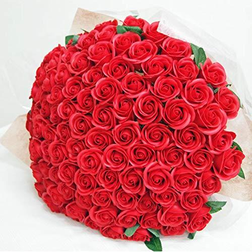 お好きな本数 ソープフラワー花束 レッド(k) 100本 ブーケ 赤いバラの花束 ブーケ 誕生日 百寿 100日 100歳 記念日 お祝い 告白 シャボンフラワー 造花 プロポーズ 結婚 婚約 開店祝い パーティー 発表会