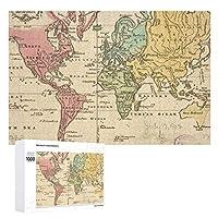 INOV 世界(1760年) 2 ヴィンテージ 地図 ジグソーパズル 木製パズル 1000ピース インテリア 集中力 75cm*50cm 楽しい ギフト プレゼント