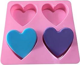 QHMDZ Hars Mallen 3D Liefde Hartvormige Siliconen Zeep Mold DIY Cake Candel Chocolade Zeep Mould Fondant Sugar Art Tools D...